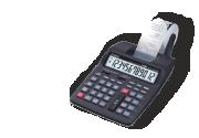 Calculadoras con rollo de papel