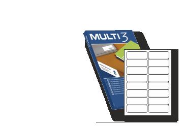 Etiquetas económicas Multi3 Impresora