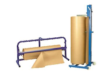Portabobinas, dispensadores papel continuo