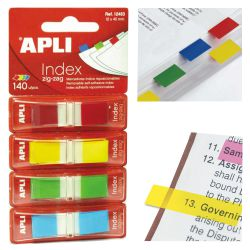 Banderitas Apli Index 12483 con dispensador unicolor Pack 4