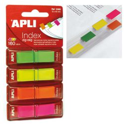 Banderitas Apli Index con dispensador 4 colores neon zig zag