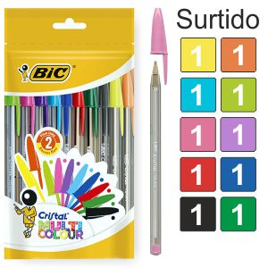 Bic Cristal Multi Colour Pack 10 Colores