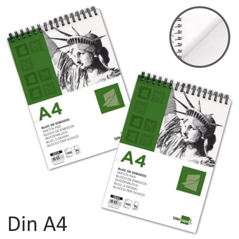 76378086b Bloc de Esbozo Din A4 cuaderno de dibujo 90 gramos
