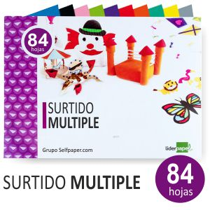 Block de Manualidades Multiple - papeles surtidos Liderpapel