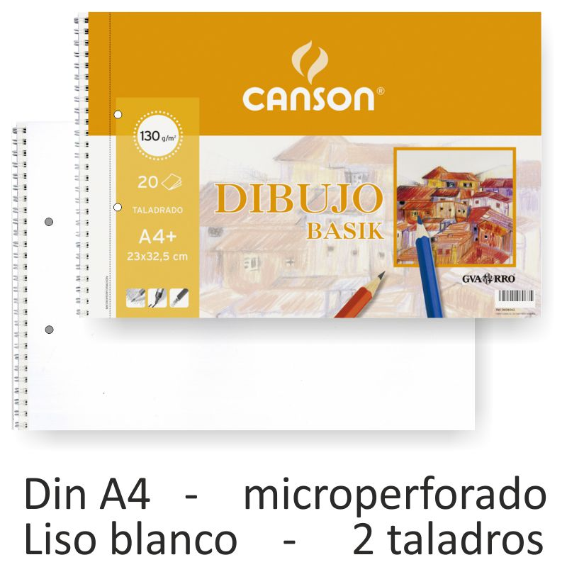 k A4 10 Hojas Canson 409784 L/áminas marca mayor Guarro Dibujo Basik Liso 130g 10 hojas