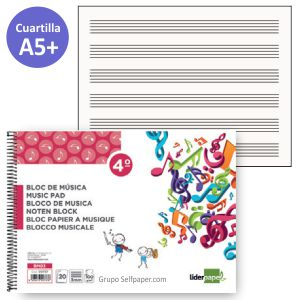 Block Musica cuartilla -