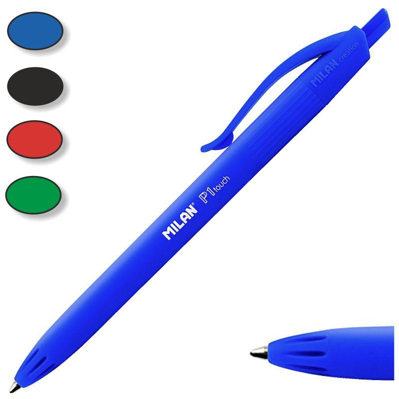 Boligrafo BIC 4 colores azules con peana y cadena retractil