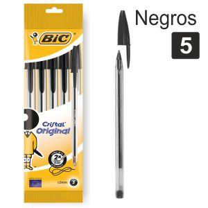 Bolígrafos Bic negros, paquete
