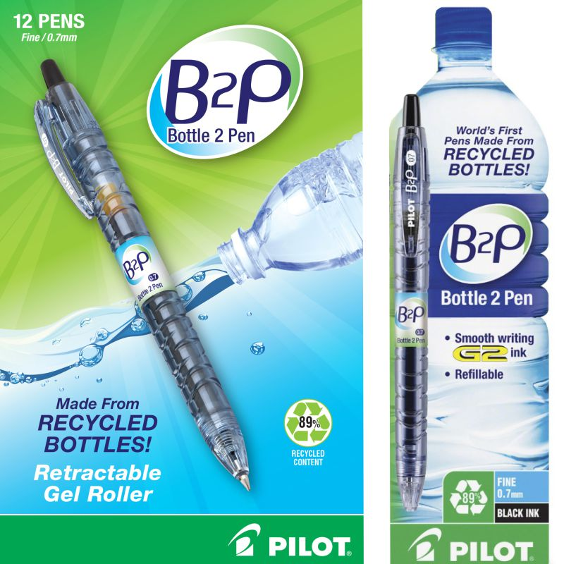 boligrago gel pilot b2p gel 1 bottle 2 pen