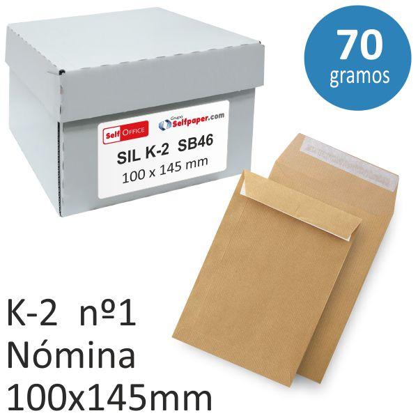 3ce1c6e3c Bolsas sobres 100x145 nómina pequeña Kraft autoadhesivas, Selfpaper.com.