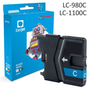 Brother LC980C LC1100C ompatible cartucho tinta color Cyan