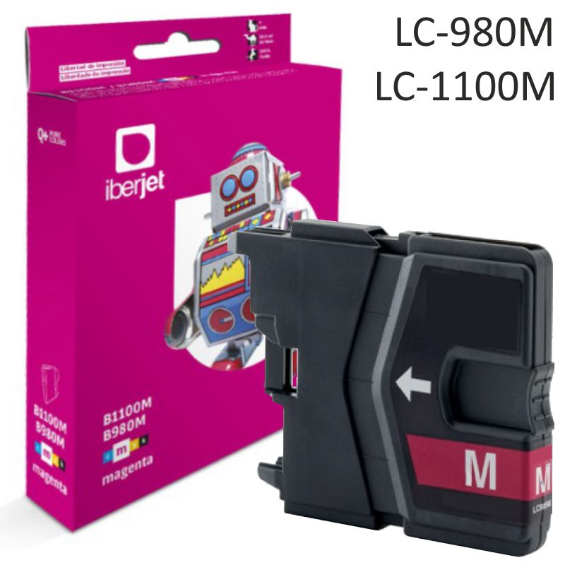 Brother LC980M LC1100M compatible cartucho tinta Magenta