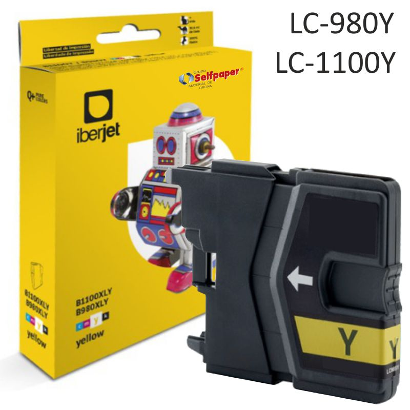 Brother LC980Y LC1100Y compatible cartucho tinta Amarillo