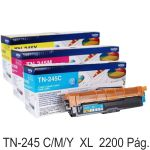 Brother TN245C , TN245M o TN245Y Toner XL  2200 páginas
