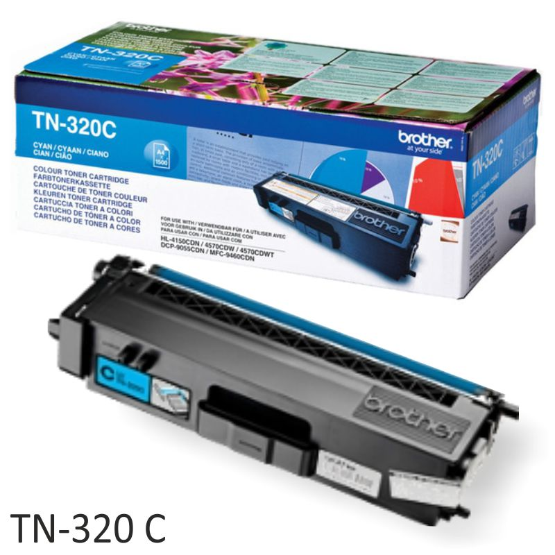 Brother TN320C TN320M TN320Y toner cada color