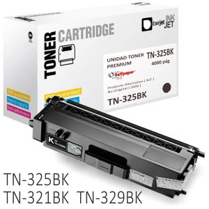 Brother TN325BK Compatible - Toner Alta capacidad - 4000 Pg