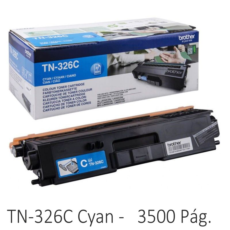 Comprar Brother TN326C color azul cyan, Toner 3500 páginas