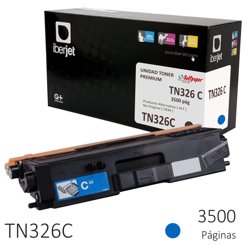 Comprar Brother TN326C compatible, Toner color azul cyan 3500 págs.