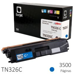 Brother TN326C compatible, Toner color azul cyan 3500 págs.