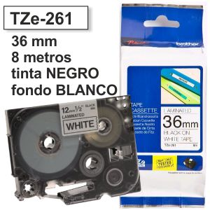 Comprar Brother TZE-261 Cinta rotuladora 36 mm Negro sobre Blanco
