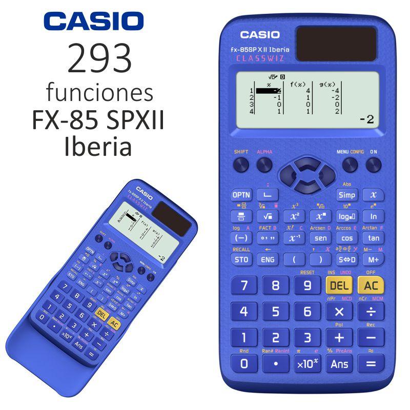 9c98cb53ab6f Calculadora Cientifica Casio FX-85SPXII Iberia Classwiz Azul ...