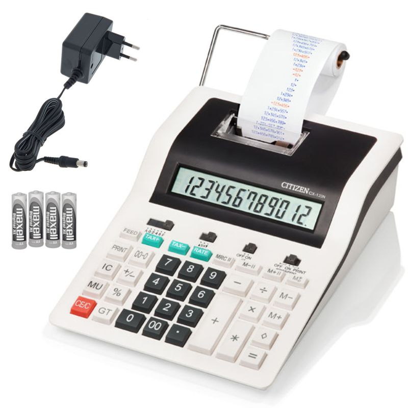 calculadora con rollo de papel citizen cx 32n pilas red