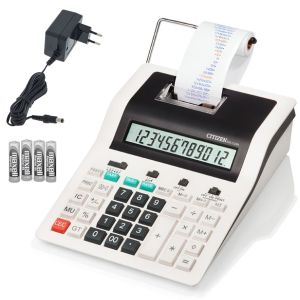 Calculadora con rollo de papel Citizen CX-32N Pilas-red 220v