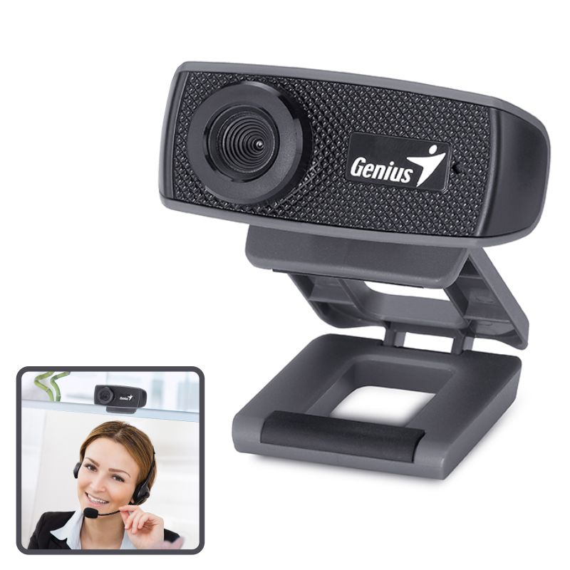 Comprar Camara Web, Webcam Genius FaceCam 1000X HD con micro