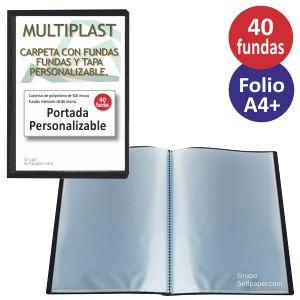 Carpeta 40 fundas personalizable