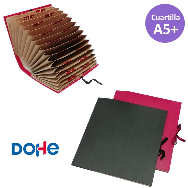 carpeta acordeon cuartilla dohe din a5 medio folio
