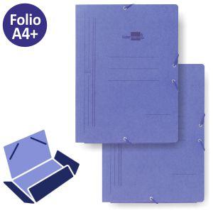 Carpeta azul con gomas