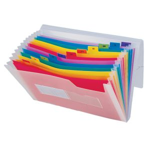 Carpeta Fuelle Plastico acordeon colores Spectrafile  A4