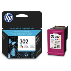 Cartucho HP 302 Tricolor, original,  Officejet 3830