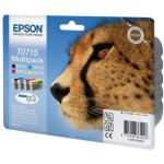 Pack negro + 3 colores tinta original Epson T0715 C13T071540