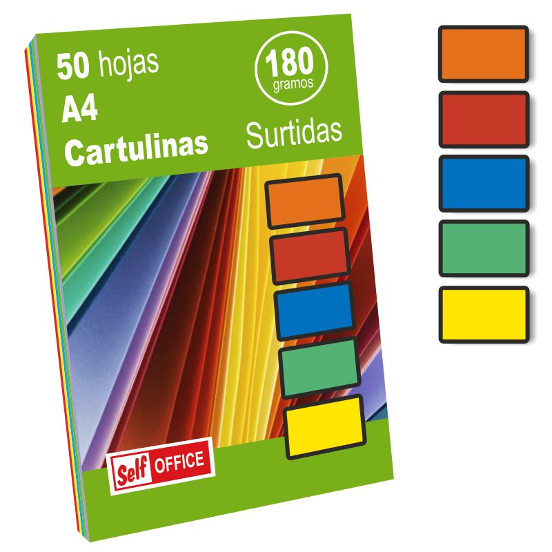 cartulinas colores vivos din a4 apli pack 50