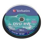 DVD-RW Regrabable bobina 10