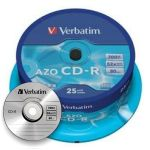 cd grabable verbatim bobina 25 52x crystal azo CD-R