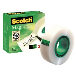 Cinta adhesiva invisible Scotch Magic 810 33 mts x 19mm