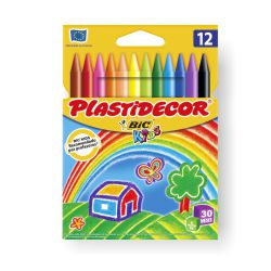 Ceras Plastidecor 12 Colores Bic Kids