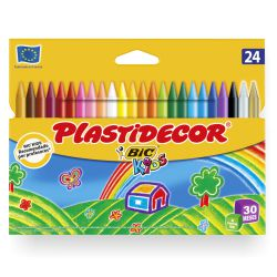 Ceras Plastidecor 24 Colores Bic kids