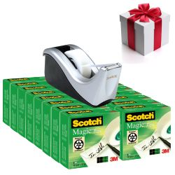 Cinta Adhesiva Scotch Magic 16u + Portacelo C60 Gratis