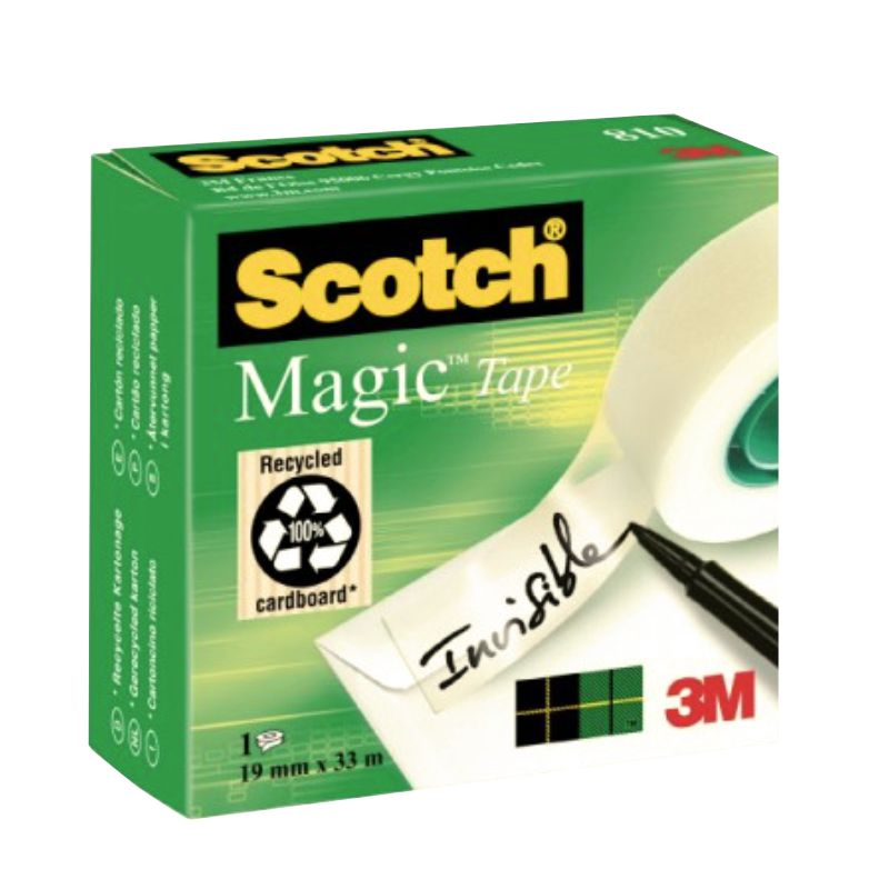 cinta celo scotch magic 810 invisible rollo 19mm x