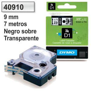 Cinta Dymo 40910 Negro-transparente