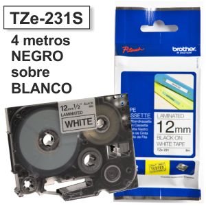 Comprar Cinta Rotuladora Brother TZ-231s 12mm x 4 metros