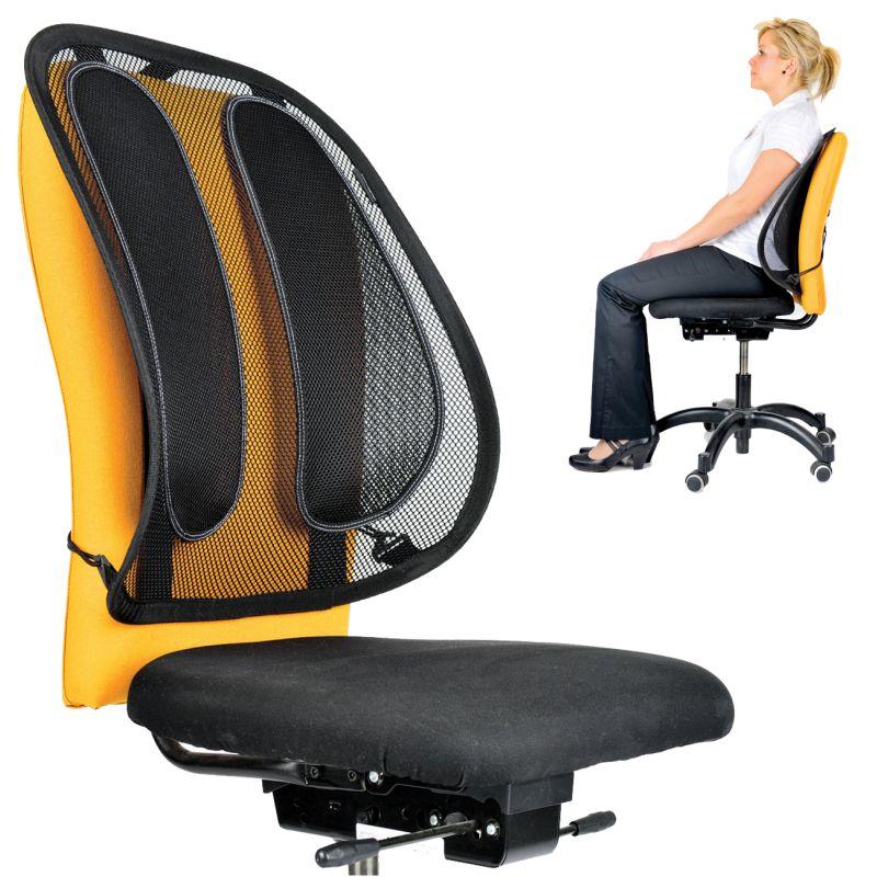 Cojin lumbar para silla de oficina mesh rejilla office for Cojin para sillas