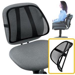 cojin lumbar para silla de oficina respaldo bajo mesh