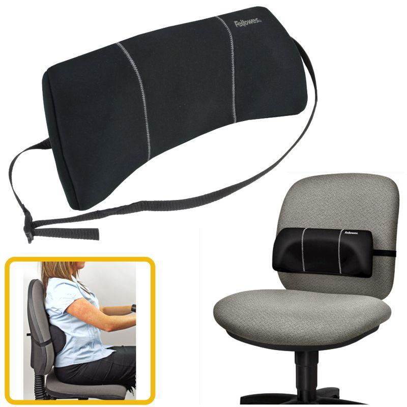 Cojin lumbar mini portatil para silla de oficina for Cojin para sillas