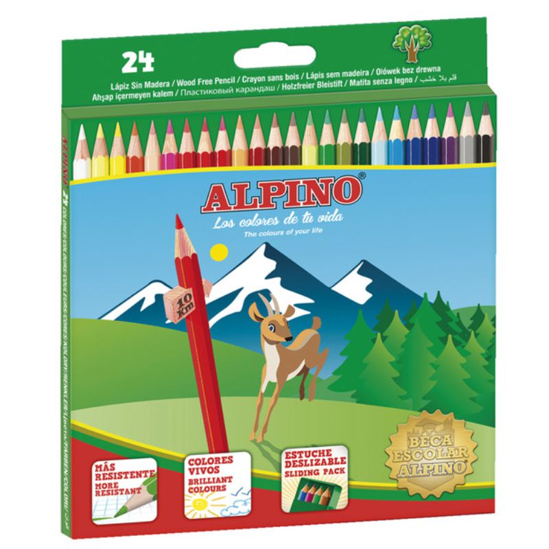 Comprar Colores Alpino 24 Lapices de colorear surtidos 658