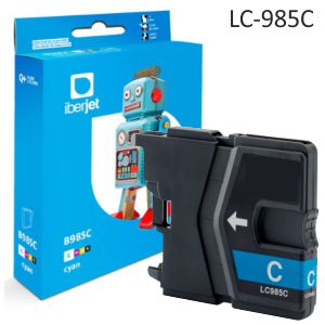 Compatible Brother LC-985C - Cartucho de tinta color Cyan