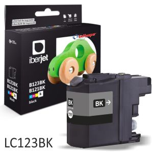 Compatible Brother LC123bk negro,